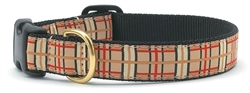 Tan Plaid Dog Leashes and Collars by Up Country