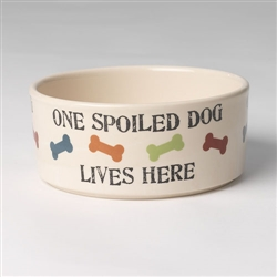 One Spoiled Pet Stoneware Dog Bowls