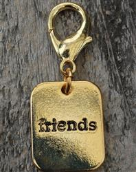 Friends Gold Collar Charm