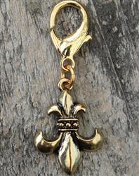 Fleur de Lis Gold Collar Charm