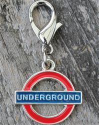London Underground Dog Collar Charm