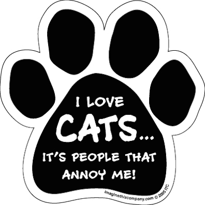 I Love Cats...People Annoy Me Paw Magnets
