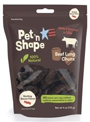 USA Sizzling Bacon 4 oz bag - Natural Beef Lung CHUNX