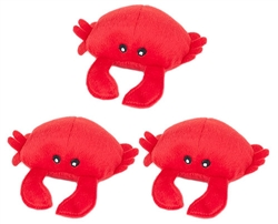 Zippy Paws - Zippy Miniz 3 Pack - Crabs