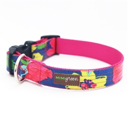 'Rosey' Laminated Cotton Dog Collars & Leashes