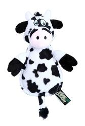 "Hear Doggy™ Flatties Cow with Chew Guard 12"""