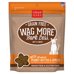 Grain Free Soft & Chewy Treats with Peanut Butter and Apples - 5 oz