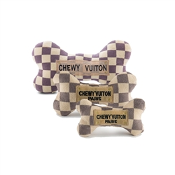 Checker Chewy Vuiton Bone Toy