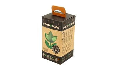 Orange Scented Poop Bags- Recycled 8 roll packs with FREE shipping