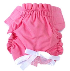 Solid Pink Puppy Panties