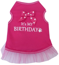 It's My Birthday - Tank Dress - Pink