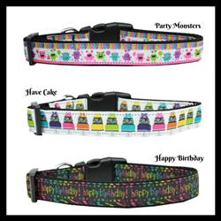 Birthday Collection Nylon Collar and Leash