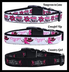 Easter Bunny Tails Nylon Collar and Leash