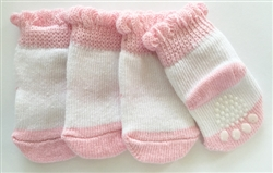 Pink & White None Slip Socks