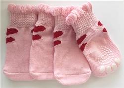 2 Hearts None Slip Socks Pink