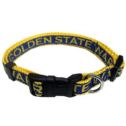 Golden State Warriors Dog Collar and Leash 79a7af5ae