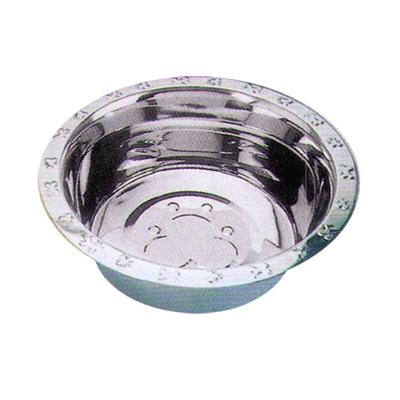 Embossed Rim Standard Stainless Steel Feeding Bowls