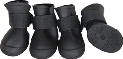 Black Protective Multi-Usage All-Terrain Black Rubberized Dog Shoes