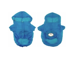 Blue Waterproof Adjustable Travel Dog Raincoat