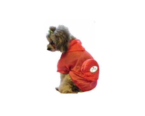 Orange Waterproof Adjustable Travel Dog Raincoat