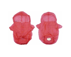 Pink Waterproof Adjustable Travel Dog Raincoat
