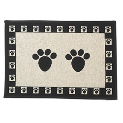 Paws Natural/Black Jumbo Tapestry Placemat