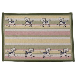 Silly Kitty Green Tapestry Placemat