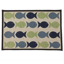 Kool Fishies Blue/Green Tapestry Placemat