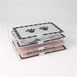 Horizontal Placemat Rack White