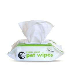 Pet Wipes - 120ct Fresh Scent with Aleo & Vitamin E