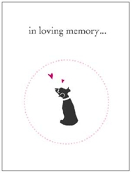 Dog Lovers Pet Sympathy Card (4 per pack)