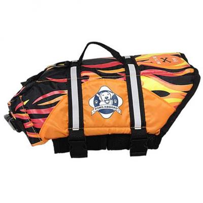 Paws Aboard Dog Life Jacket - RACING FLAME