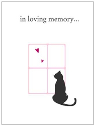 Cat Lovers Pet Sympathy Card (4 per pack)