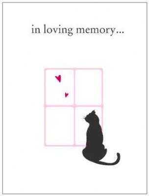 Cat Lovers Pet Sympathy Card (4 per pack)