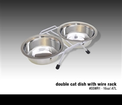 Van Ness Double Dish Stainless Steel 16oz / with rack