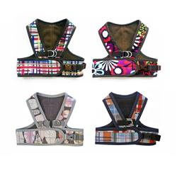 5500 Step Easy Printed Fleece Lined Soft Harness Up to 20 LBS