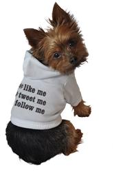 #like me, #tweet me, #follow me Hoodie