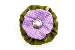 Blossom - Olive/Lilac Dots
