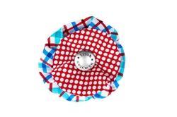 Blossom - Plaid/Red Dots