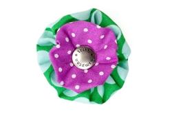 Blossom - Green/Fuchsia Dot