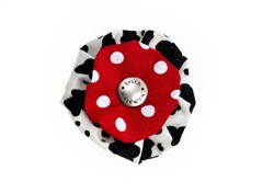 Blossom - Cowhide/Red Dots