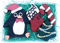 Santa Penguin Gift Box