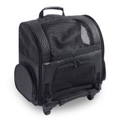 Large  Pet Roller-Carrier - Geometric Black