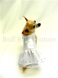 Little White Sparkle Dress by Ruff Ruff Couture®
