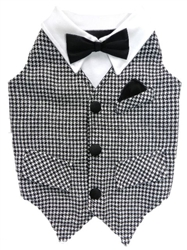 Don Draper Vest with Black Bowtie by Ruff Ruff Couture®