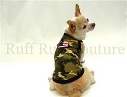 Camo Green American Tank by Ruff Ruff Couture®