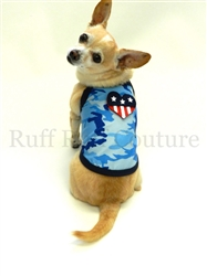 Camo Blue American Summer Tank by Ruff Ruff Couture®
