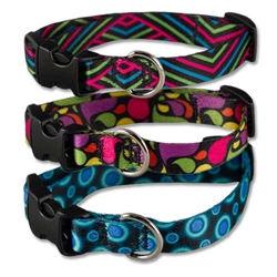 "Cycle Dog EcoWeave Skinny 5/8"" Width Plastic Quick Release Collars"