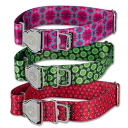 "Cycle Dog EcoWeave Fatty 1.5"" Width Metal Buckle Collars"