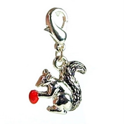 Squirrel D-Ring Charm
